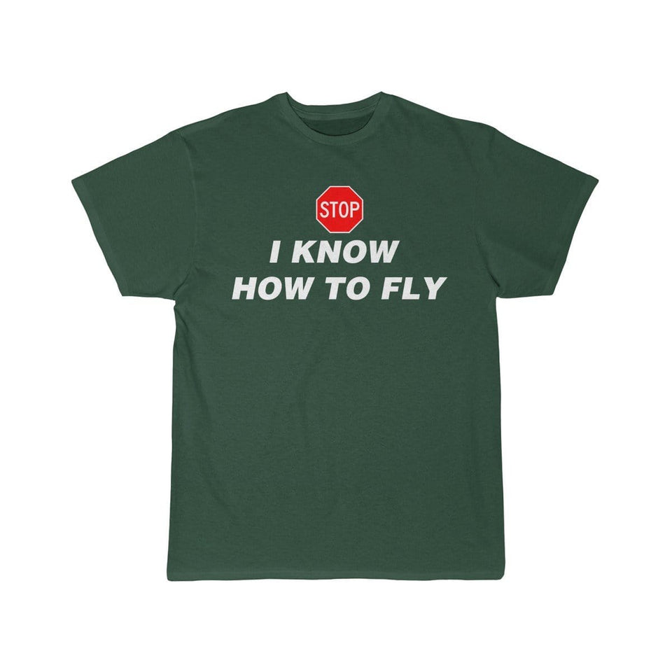 Printify T-shirt Forest / S I know how to fly