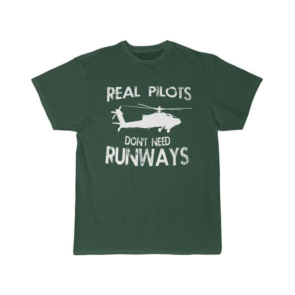 Printify T-shirt Forest / S Real Pilots Don't Need Runway