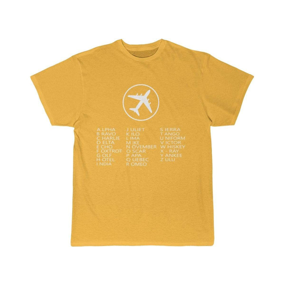 Printify T-shirt Gold / S AVIATION ALPHABET 2 DESIGNED CHILDREN T-SHIRTS
