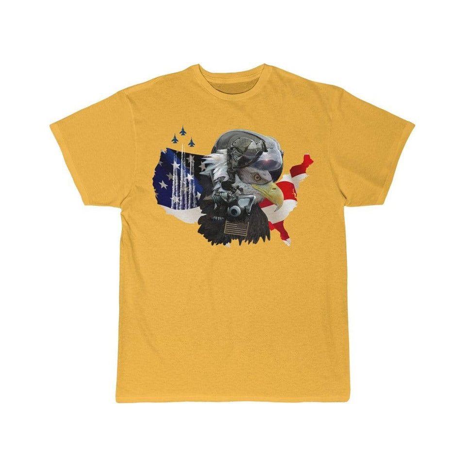 Printify T-shirt Gold / S Eagle Pilot