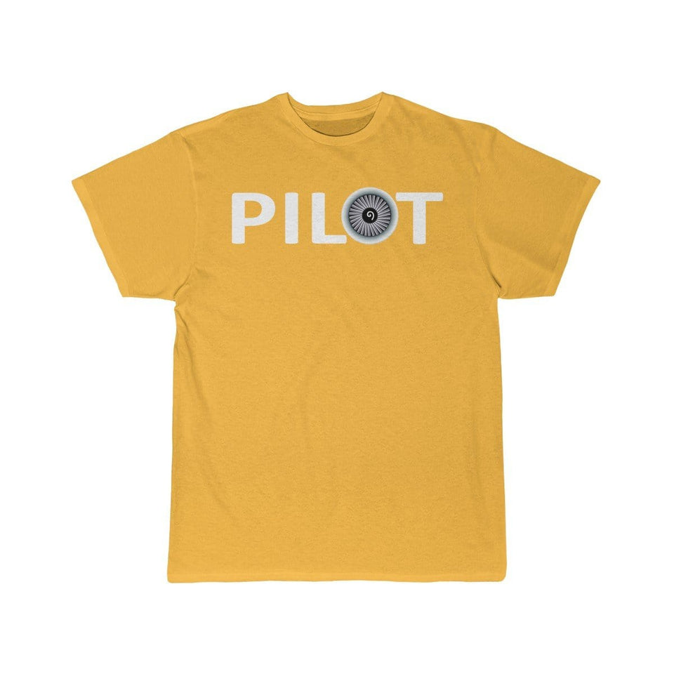 Printify T-shirt Gold / S PILOT (JET ENGINE) DESIGNED