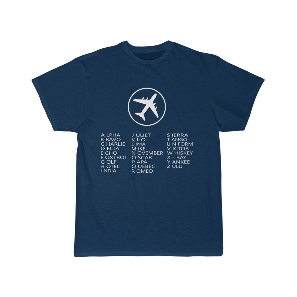Printify T-shirt Navy / L AVIATION ALPHABET 2 DESIGNED CHILDREN T-SHIRTS