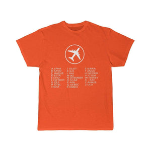 Printify T-shirt Orange / S AVIATION ALPHABET 2 DESIGNED CHILDREN T-SHIRTS