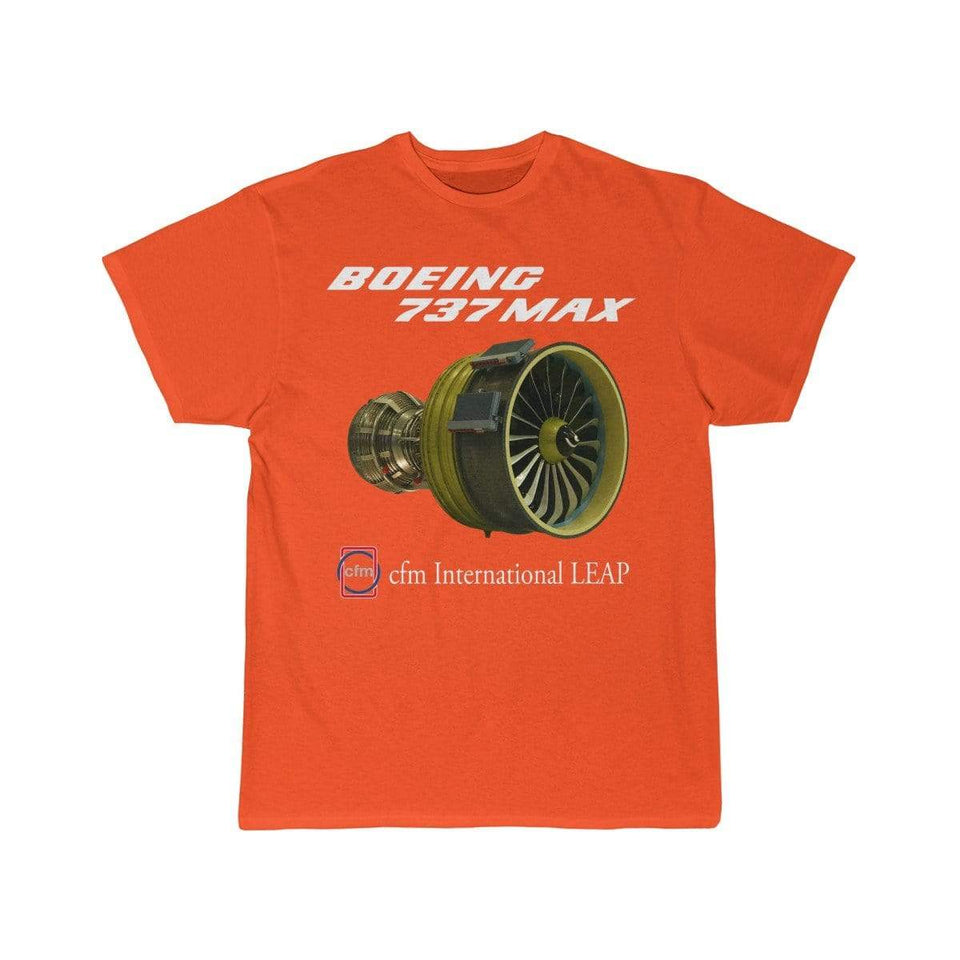 Printify T-shirt Orange / S Boeing B737 Max