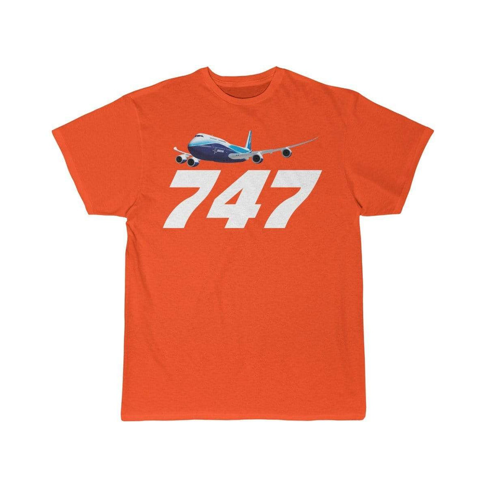 Printify T-shirt Orange / S Boeing B747