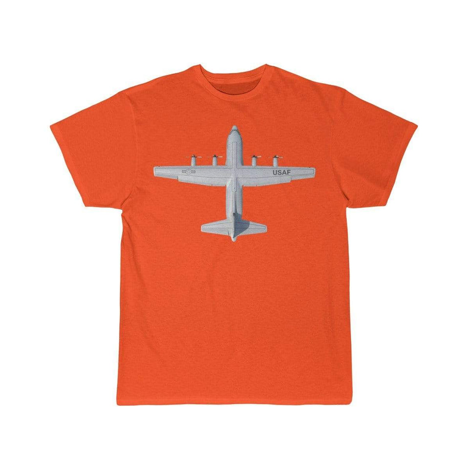 Printify T-shirt Orange / S Lockheed C-130