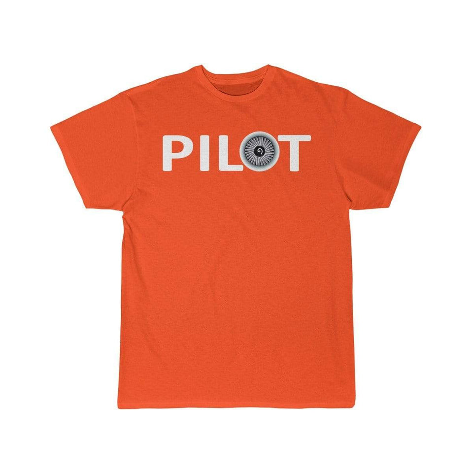 Printify T-shirt Orange / S PILOT (JET ENGINE) DESIGNED