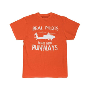 Printify T-shirt Orange / S Real Pilots Don't Need Runway