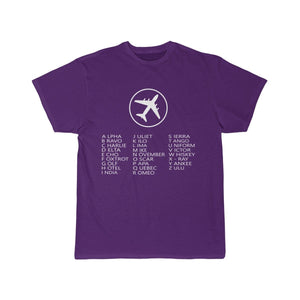 Printify T-shirt Purple / S AVIATION ALPHABET 2 DESIGNED CHILDREN T-SHIRTS