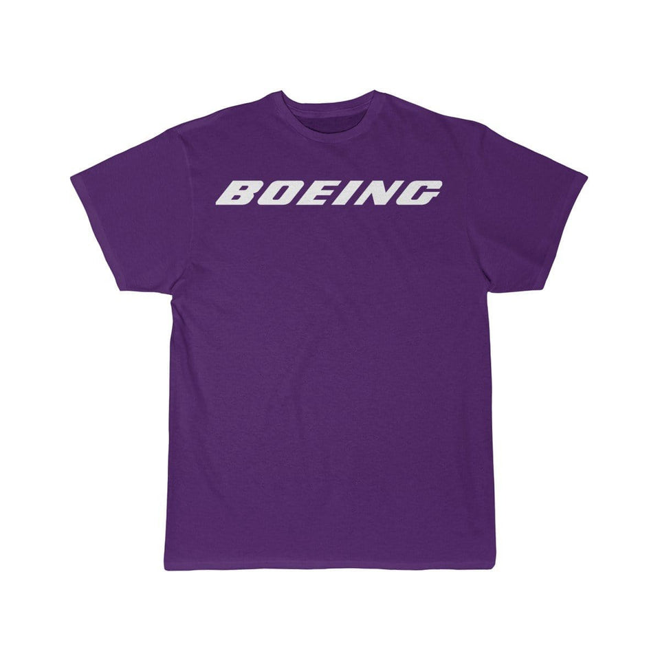 Printify T-shirt Purple / S Boeing Customizable Model Design