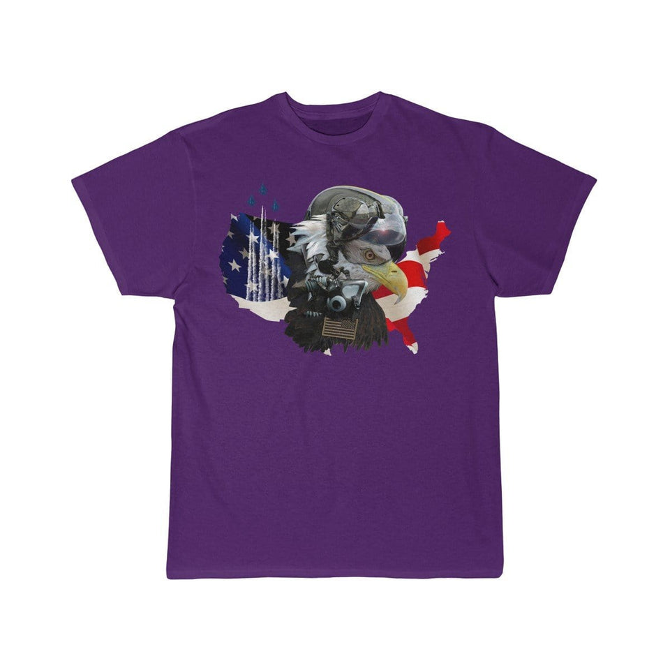 Printify T-shirt Purple / S Eagle Pilot