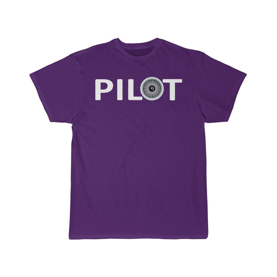 Printify T-shirt Purple / S PILOT (JET ENGINE) DESIGNED