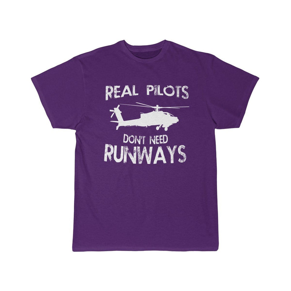 Printify T-shirt Purple / S Real Pilots Don't Need Runway