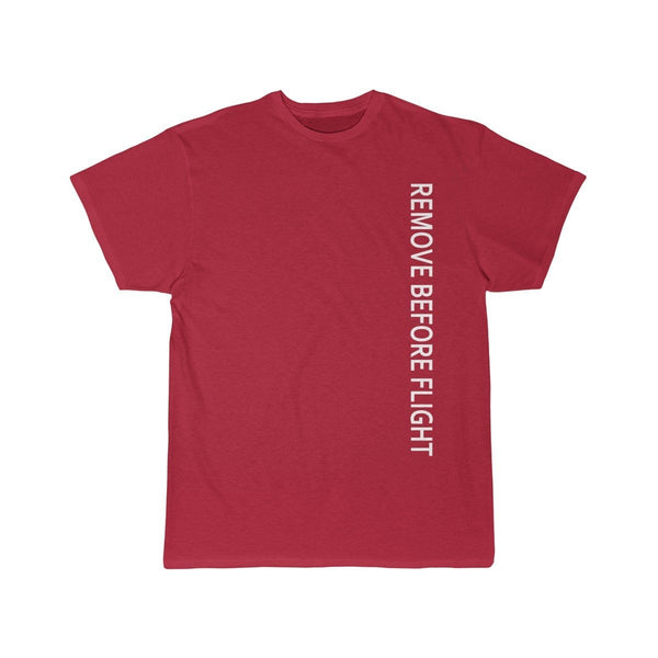 Printify T-shirt Red / L REMOVE BEFORE FLIGHT