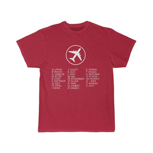 Printify T-shirt Red / S AVIATION ALPHABET 2 DESIGNED CHILDREN T-SHIRTS