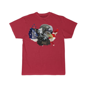 Printify T-shirt Red / S Eagle Pilot