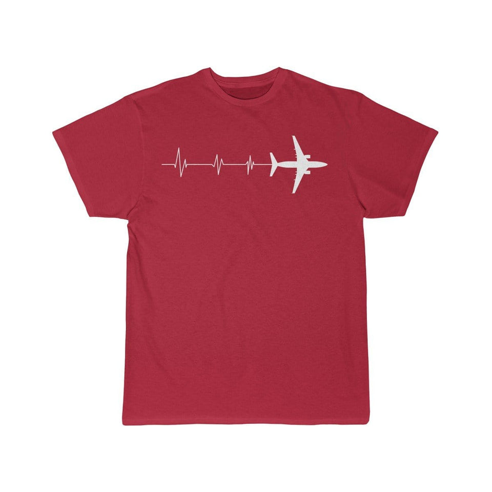 Printify T-shirt Red / S HEARTBEAT 737