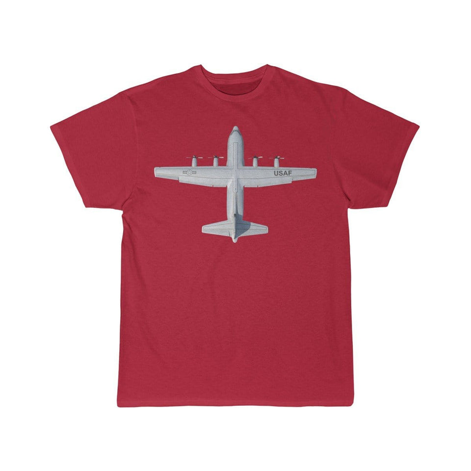 Printify T-shirt Red / S Lockheed C-130