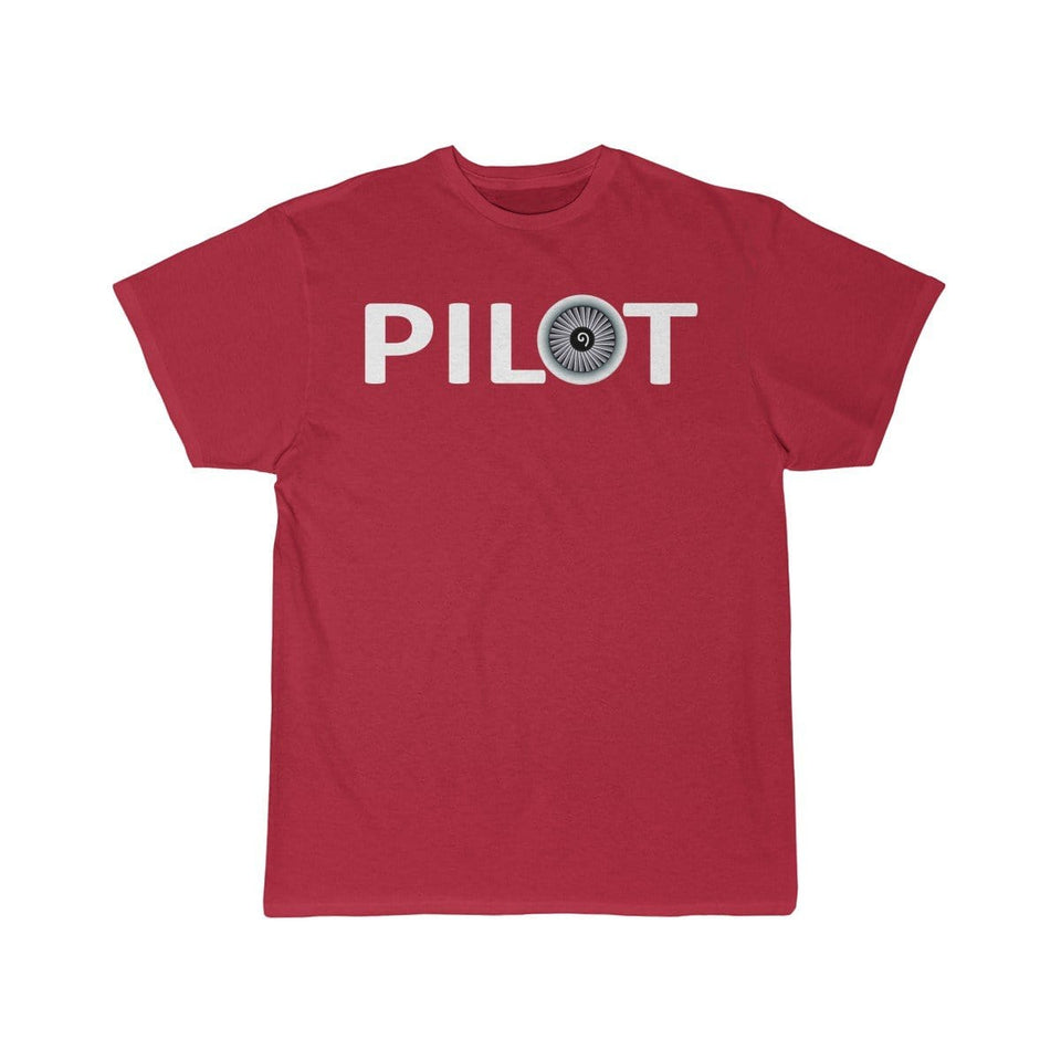 Printify T-shirt Red / S PILOT (JET ENGINE) DESIGNED