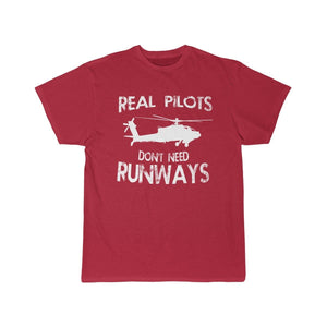 Printify T-shirt Red / S Real Pilots Don't Need Runway