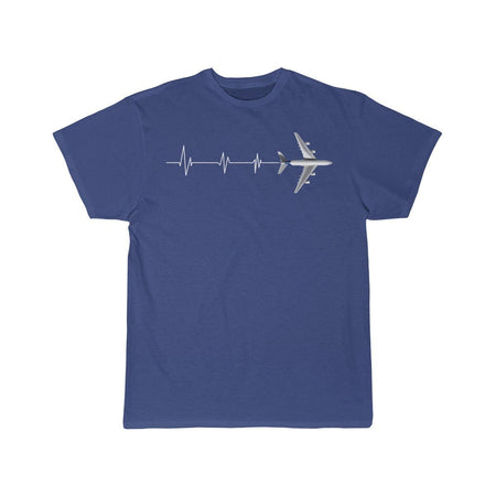 Printify T-shirt Royal / L HEARTBEAT A380