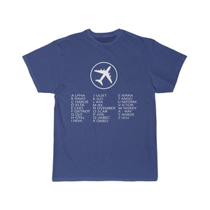 Printify T-shirt Royal / S AVIATION ALPHABET 2 DESIGNED CHILDREN T-SHIRTS