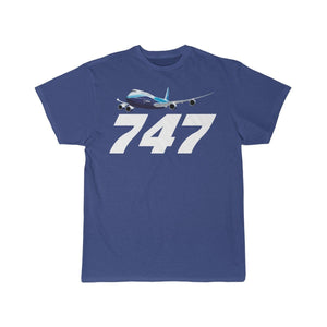 Printify T-shirt Royal / S Boeing B747