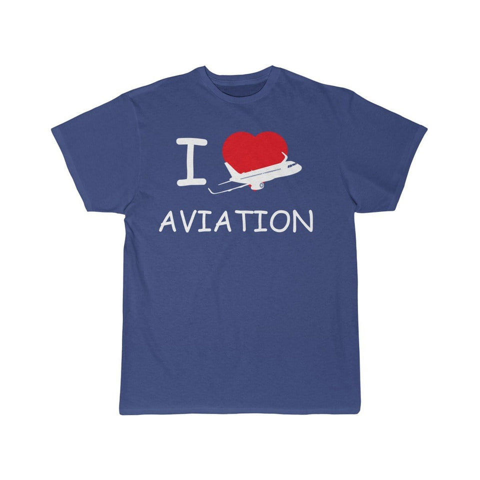 Printify T-shirt Royal / S I LOVE AVIATION