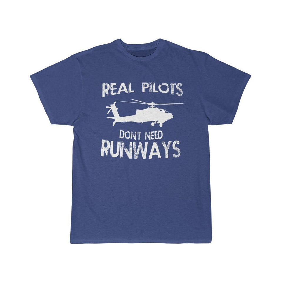 Printify T-shirt Royal / S Real Pilots Don't Need Runway