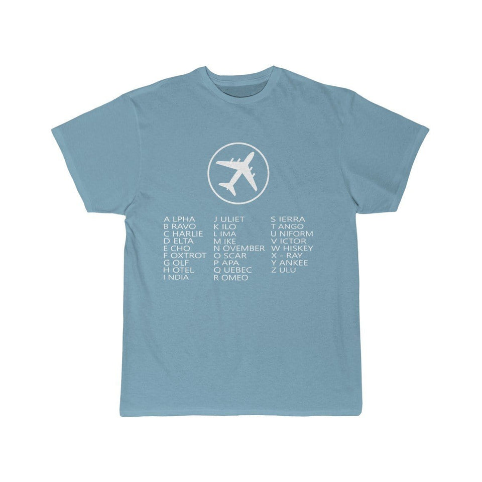 Printify T-shirt Sky Blue / S AVIATION ALPHABET 2 DESIGNED CHILDREN T-SHIRTS