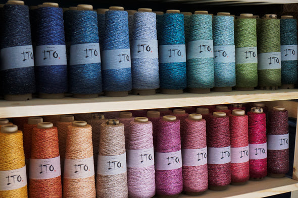 ITO Kinu yarns for weaving and knitting silk noil for sale Australia