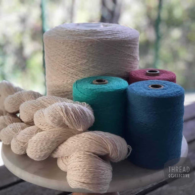 Maurice Brassard Cotton Slub, Yarn, Maurice Brassard,- Weaving, Thread Collective, Brisbane, Australia