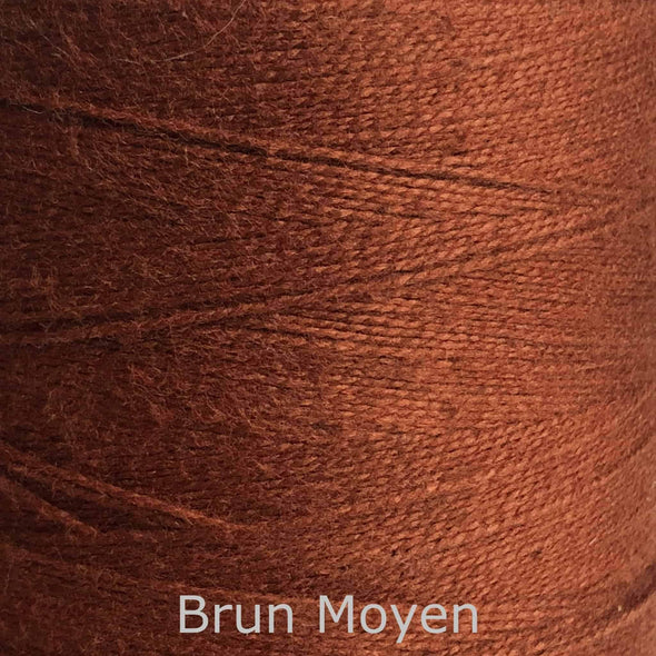16/2 cotton weaving yarn brun moyen