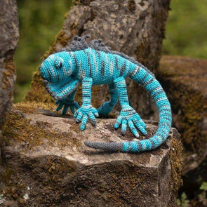 Euripides the Blue Iguana Crochet Kit - TOFT