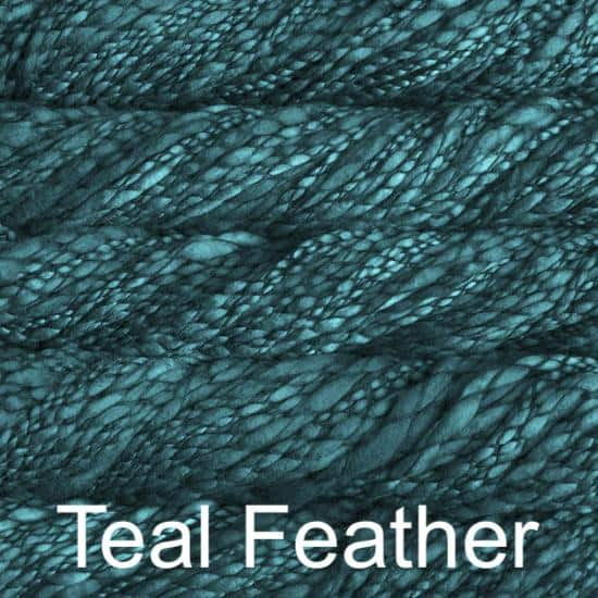 Malabrigo Caracol Teal Feather 412