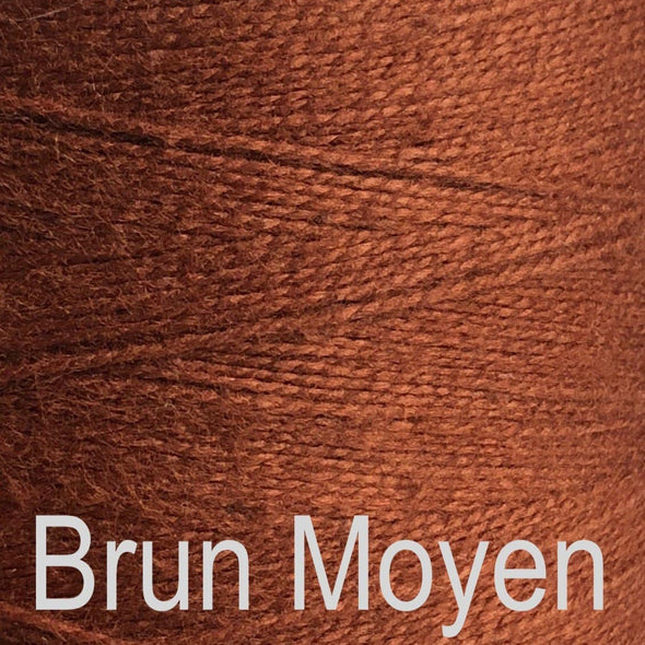 Maurice Brassard Cotton Weaving Yarn Ne 8/2 Brun Moyen 1313