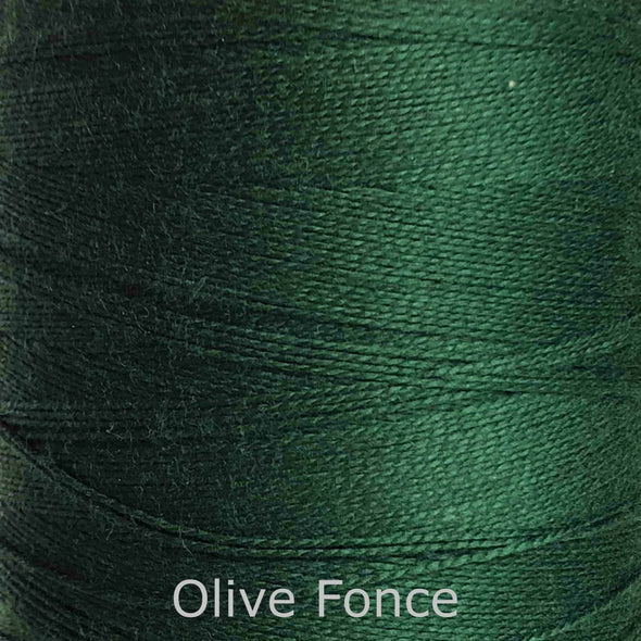 16/2 cotton weaving yarn olive fonce