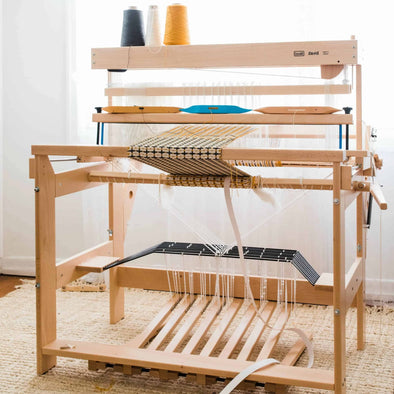 Louet David 8 Shaft 90cm weaving floor loom from Thread Collective Australia wide