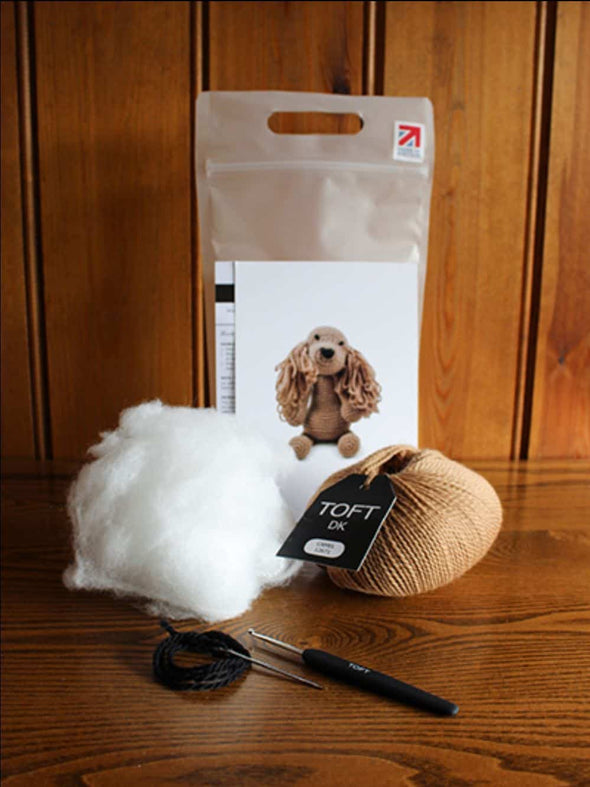 TOFT-Saxon-the-cocker-spaniel-crochet-kit