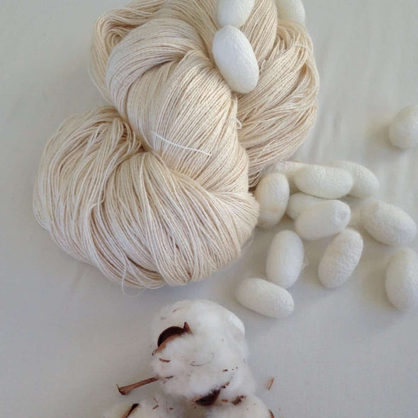 Swiss Mountain Silk 50% Cotton 50% Silk Weaving Yarn - Thread Collective Australia