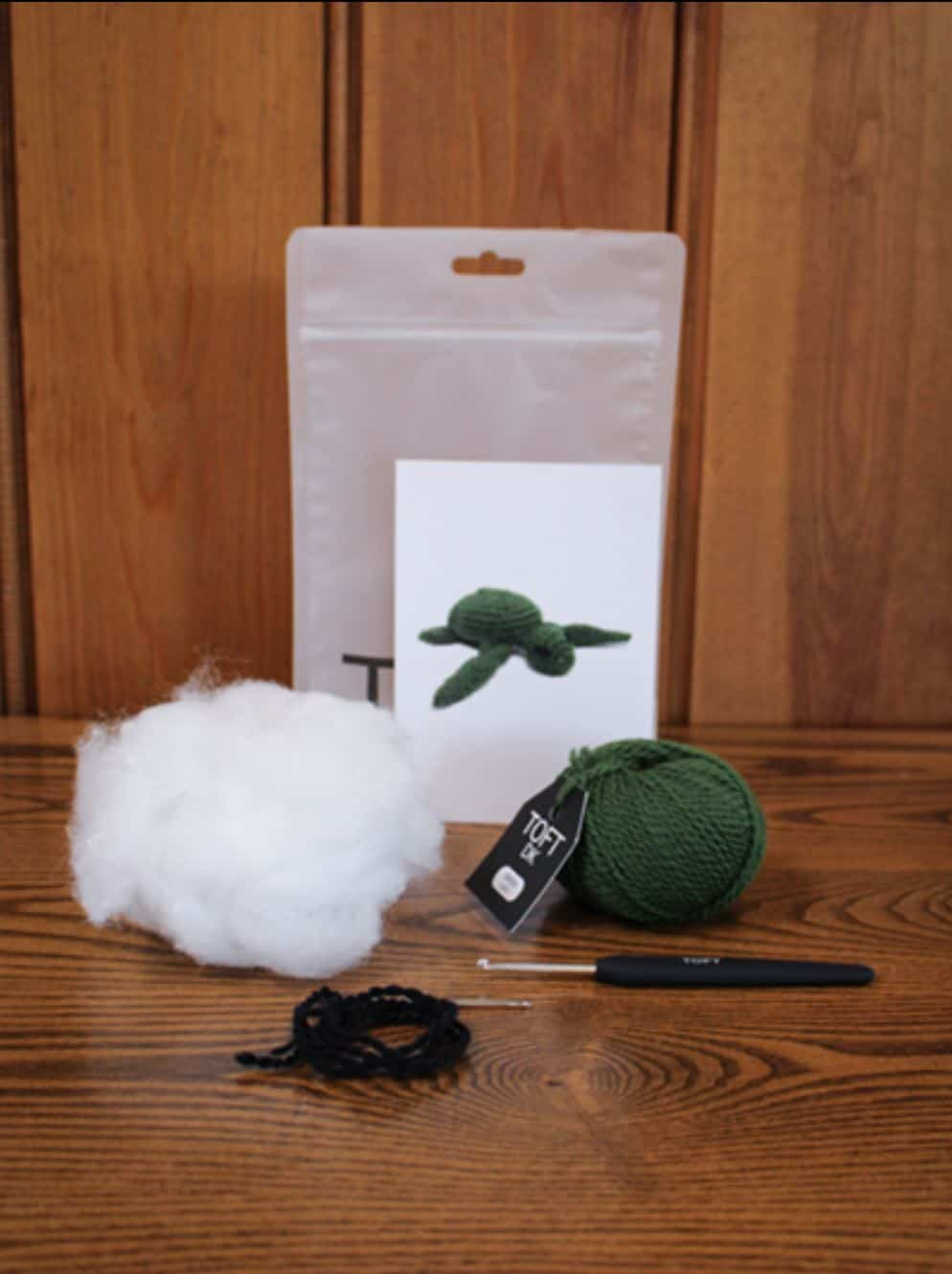 Kat the Turtle Mini Crochet Kit by TOFT | Thread Collective