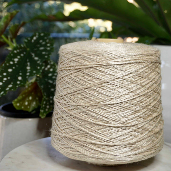 Tussah-silk-knitting-yarn-nm4_2-large-cone-swiss-mountain-silk-thread-collective-australia