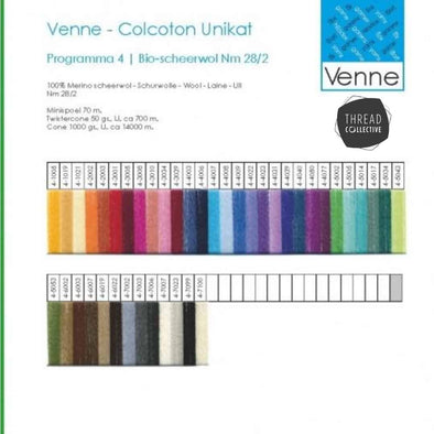 Venne organic merino wool sample card