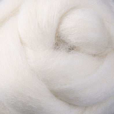 White Natural Corriedale Sliver Wool |Ashford