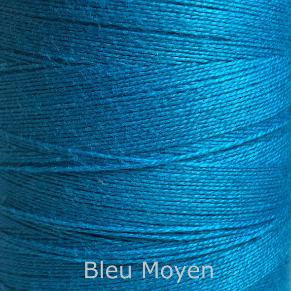16/2 cotton weaving yarn blue moyen