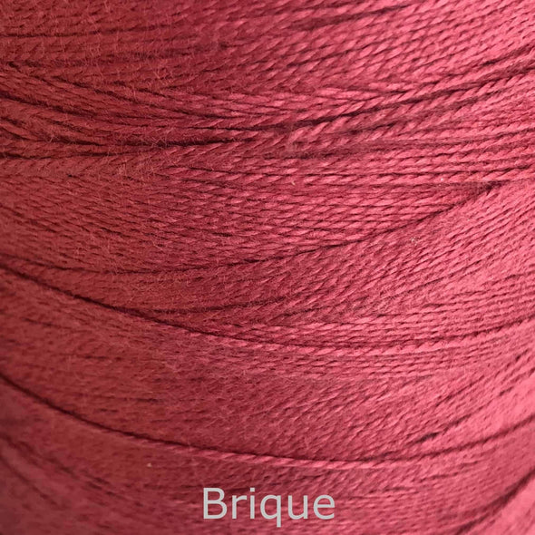 16/2 cotton weaving yarn brique