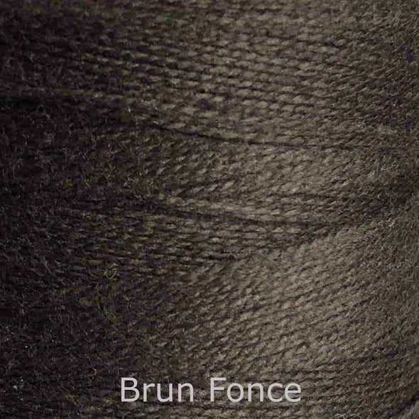 16/2 cotton weaving yarn brun fonce