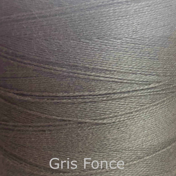16/2 cotton weaving yarn gris fonce
