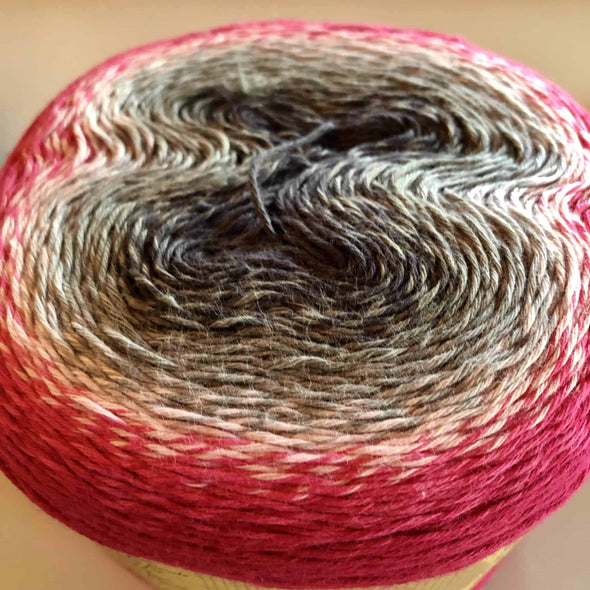 Scheepjes Whirl Knitting Yarn - Raspberry Rocks Road 752
