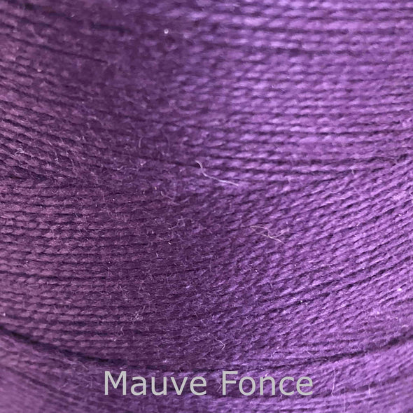 16/2 cotton weaving yarn mauve fonce